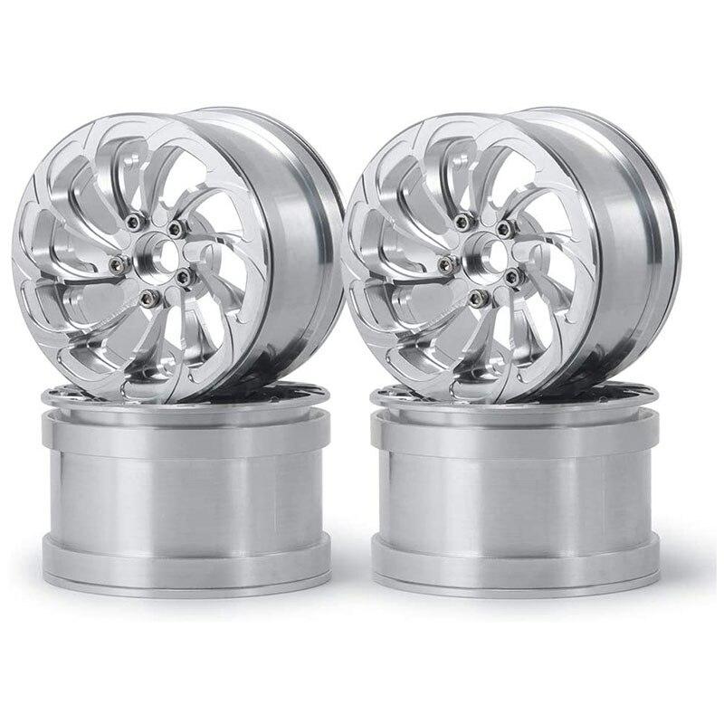 Aluminum Alloy 2.2 Inch Beadlock Wheels Rims For 1/10Th Scale RC Crawler Car Wraith 90048 Pack Of 4Pcs