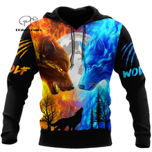 Wolf Printed Hoodies Men 3d Hoodies Brand Sweatshirts Jackets Quality Pullover Fashion Tracksuits Animal Streetwear Out Coat-5 hampson lanqe animal wolf printed men hoodies sweatshirts 2019 warm fleece coat brand punk hoodie harajuku men s jackets cm01