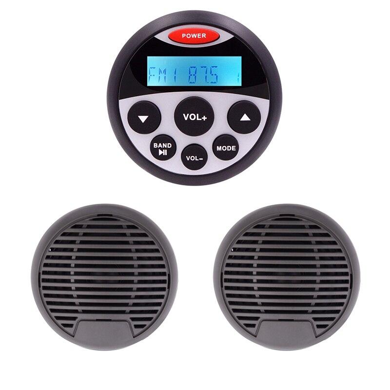 Guzare Radio Marine stéréo et haut-parleurs étanche voiture lecteur MP3 Headunit Yacht moto bateau FM AM récepteur