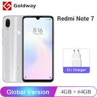 "Version globale Xiaomi Redmi Note 7 4GB RAM 64GB ROM téléphone portable Snapdragon 660 Octa Core 6.3 ""48MP double caméra 4000mAh FCC CE"