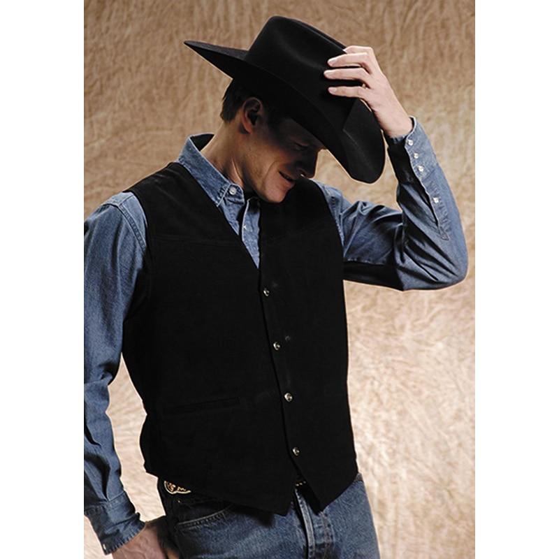 Blazer Waistcoats Custom Cowboy-Style Formal Men's Casual Herren Weste Chaleco Masculino