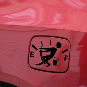Image 2 - 1Pc drôle voiture autocollant tirer bouchon de réservoir de carburant couverture pointeur complet hellafluxuriant réfléchissant voiture vinyle autocollant autocollant en gros voiture style