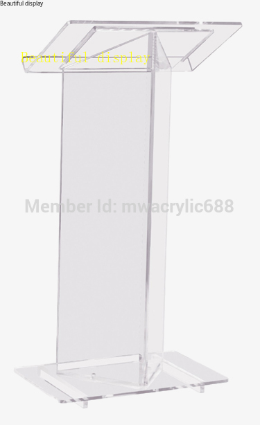 Free Shipping High Quality Cheap Clear Acrylic Lectern Plexiglass