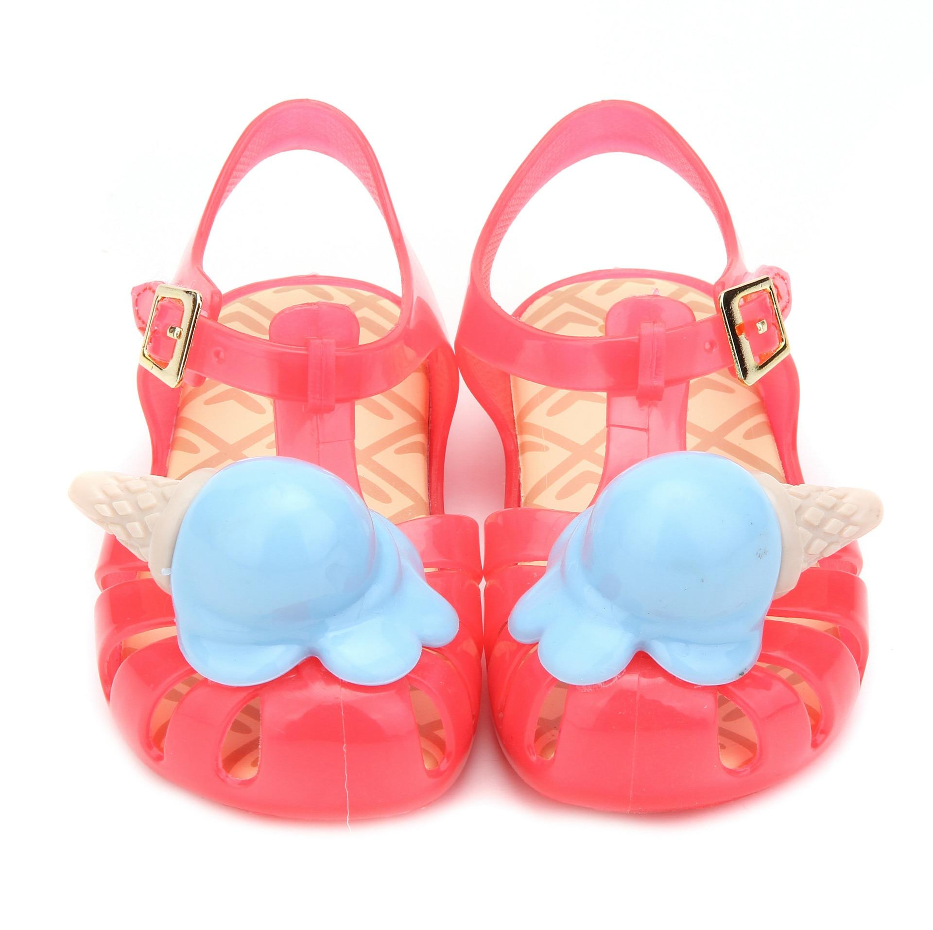 Girl's Jelly Shoes Summer Fashion Kids Roma Sandals Ice Cream Princess PVC Shoes Beach Wear Min Melissa Summer Sandals SH108