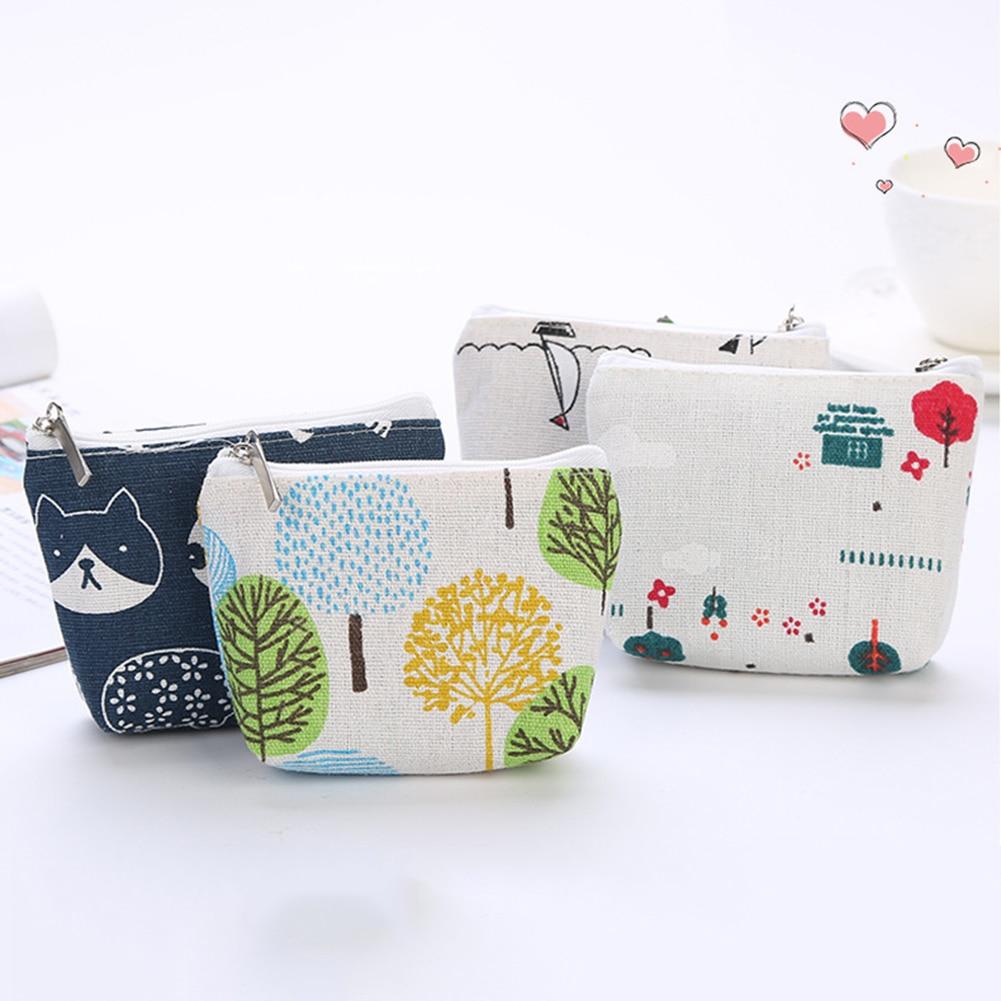 Korean Simple Coin Bag Kids Change Purse Girls Small Wallet Cute Cotton Money Bag Portable Key Pouch Card Holder For Children