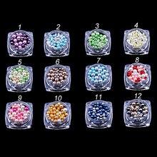 Маникюр цвет размер украшение в виде жемчужины элементы мобильный телефон Сделай Сам ювелирные изделия в японском стиле конфеты шар ногтей стикер 12 цветов Набор