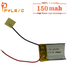 3.7V 150mAh dla Syma S105 S107 S107G S109 S111 MJXRC s977/s009 Wltoy v319 1S 3.7V 150mAh li-po bateria 3.7V część śmigłowca 1 sztuk