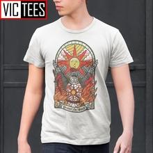 Męska Dark Souls 3 kościół słońca T-Shirt z motywem Praise the Sun młodzieży koszulki bawełniane nowy T Shirt modna odzież tanie tanio Vikineey Krótki O-neck tops Tees Normal Suknem COTTON Na co dzień Cartoon Soft Eco-friendly Breathable Comfortable Anti-Wrinkle
