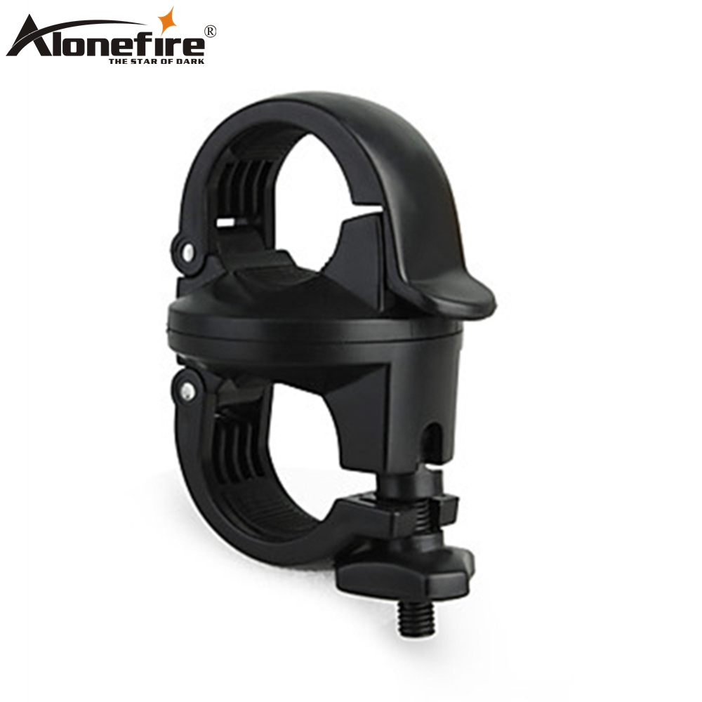 AloneFire LC-2 Flashlight Holder Bicycle Clip 360 Degree Rotation Bike Mount Stand Handlebar Clamp Cycling Riding Accessories