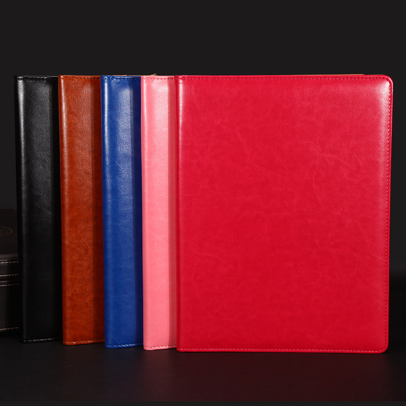 3 pcs A4 File Folder Notebook Briefcase PU Leather Manager folder Binder Manager Document Organizer Classeuer Hand Clip File