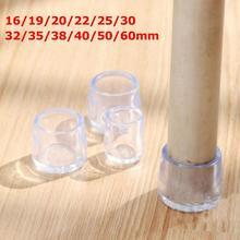 Прозрачный стол стул ножка крышка мебель стол ножки крышка конец силикон протектор пол мебель защита шумоподавление крышка крышка B5K6