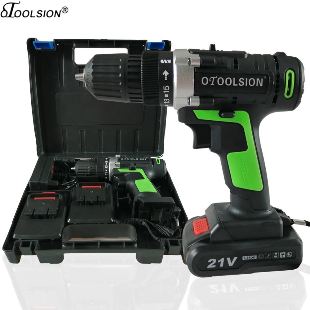 12V 21V Cordless Screwdriver Electric Drill Power Tools Drill Screwdriver Cordless Drill Electric With Screwdriver Tool Box