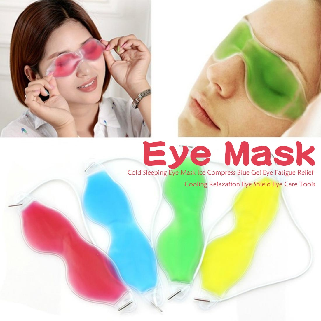 Remove Dark Circle Cold Sleeping Eye Mask Ice Compress Blue Gel Eye Fatigue Relief Cooling Relaxation Eye Shield Eye Care Tools