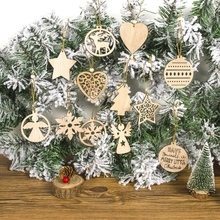 12PCS Wooden Slices Crafts Cutout Hanging Pendant Ornaments Christmas Unfinished Home Christmas Tree Bar Shop DecorationCM майка борцовка print bar pusheen christmas