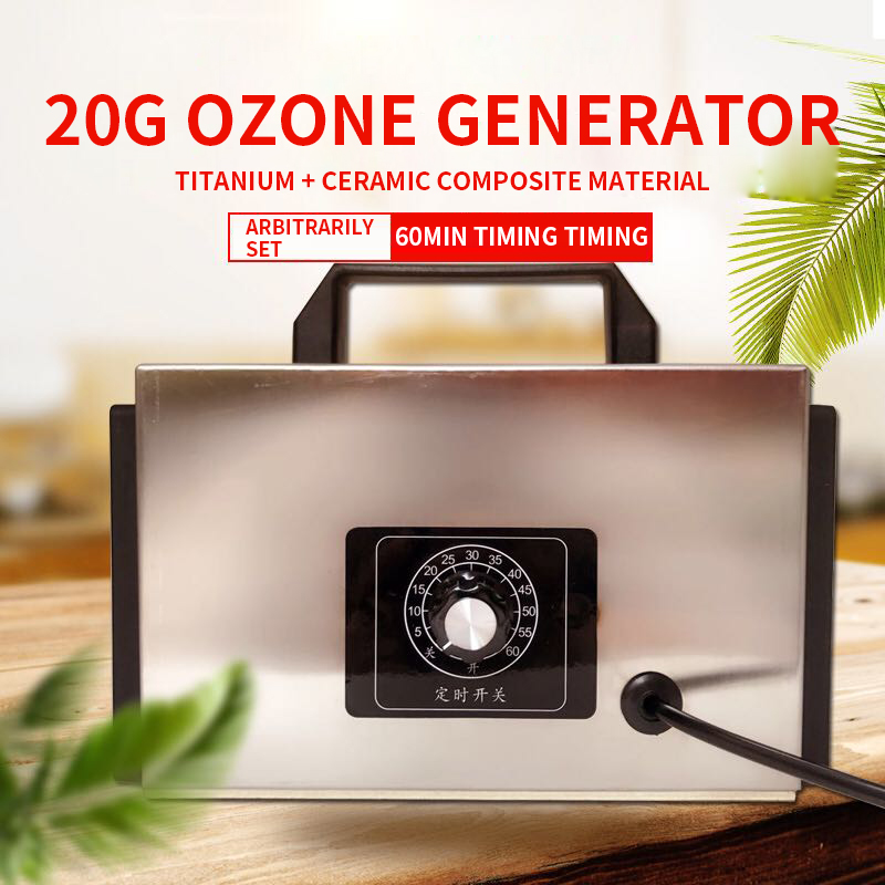 Ozone Generator 20g/h Air Purifier Multifunctional Ozone Disinfection Machine Air Purification Deodorization Sterilization