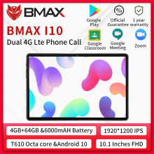 BMAX – tablette PC i10 Android 10, 10.1x1920, Octa Core, 4 go de RAM, 64 go de ROM, réseau 4G, port type-c, double Wifi, 1080