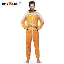 Covrlge Mens Rompers 2019 Men Onesies Fashion Sets Autumn Overall Clothes Hoodie Pants High Quality Suit MSX002