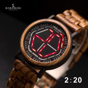 Image 1 - BOBO BIRD LED 디스플레이 시계 남자 relogio masculino 나이트 비전 디지털 남성 시계 reloj hombre V P13