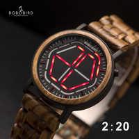 Bobo pássaro display led assista men relogio masculino visão noturna digital relógios masculinos reloj hombre V-P13