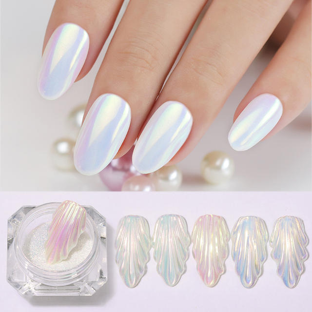 1 Box Chameleonic Mirror Nail Glitter Powder Holographic Neon Effect Chrome Pigment Nail Art Dust Nails DIY Decorations