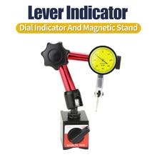 0.08 Leverage Dial Indicator Magnetic Base Bracket Dial Indicator Measuring Probe Micrometer Measuring Tool Magnetic Bore Gauge