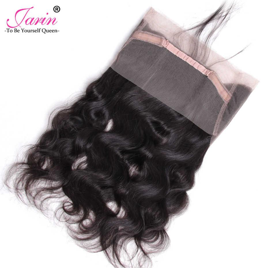 360 Кружева Фронтальная 5 шт./лот объемная волна малазийские человеческие волосы с волосами младенца предварительно выщипанные волосы жарин Реми объемный натуральный цвет