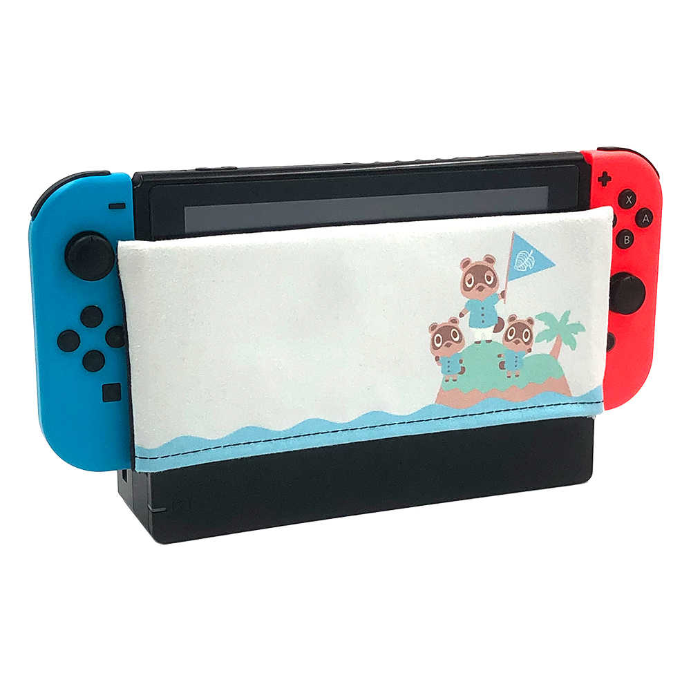 Nintend Switch Dock Cover Sleeve Dock Sock Decal Soft Suede Anti