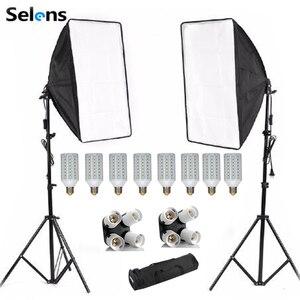 Новинка, для фотографов, софтбокс, комплект лайтбоксов 8 шт. E27 светодиодный фотостудия Камера осветительного оборудования 2 софтбокс 2 освет...