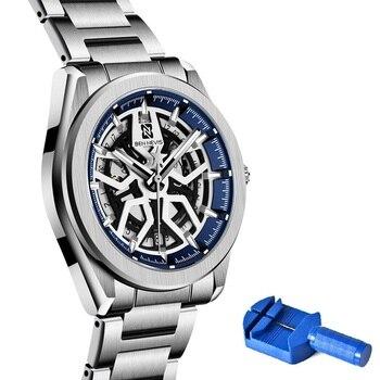 BEN NEVIS 2020New Hollow-Out Mechanical Men's Watch Waterproof Auto Date Men Mechanical Wrist Watch Fashion Bsusiness Watches
