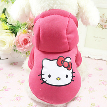 Warm Pet Clothing For Dog Clothes Winter French Bulldog Dog Coat Winter Warm Yorkshire Dog Hoodies Soft Fleece Puppy Clothes