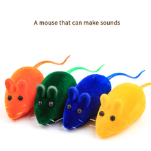 3pcs Little Mouse Cat Toy Realistic Sound Pet Toys Mice for Cats Kitten Toys Mini Funny Playing Toy Interactive Gifts for Cats pounce little kitten