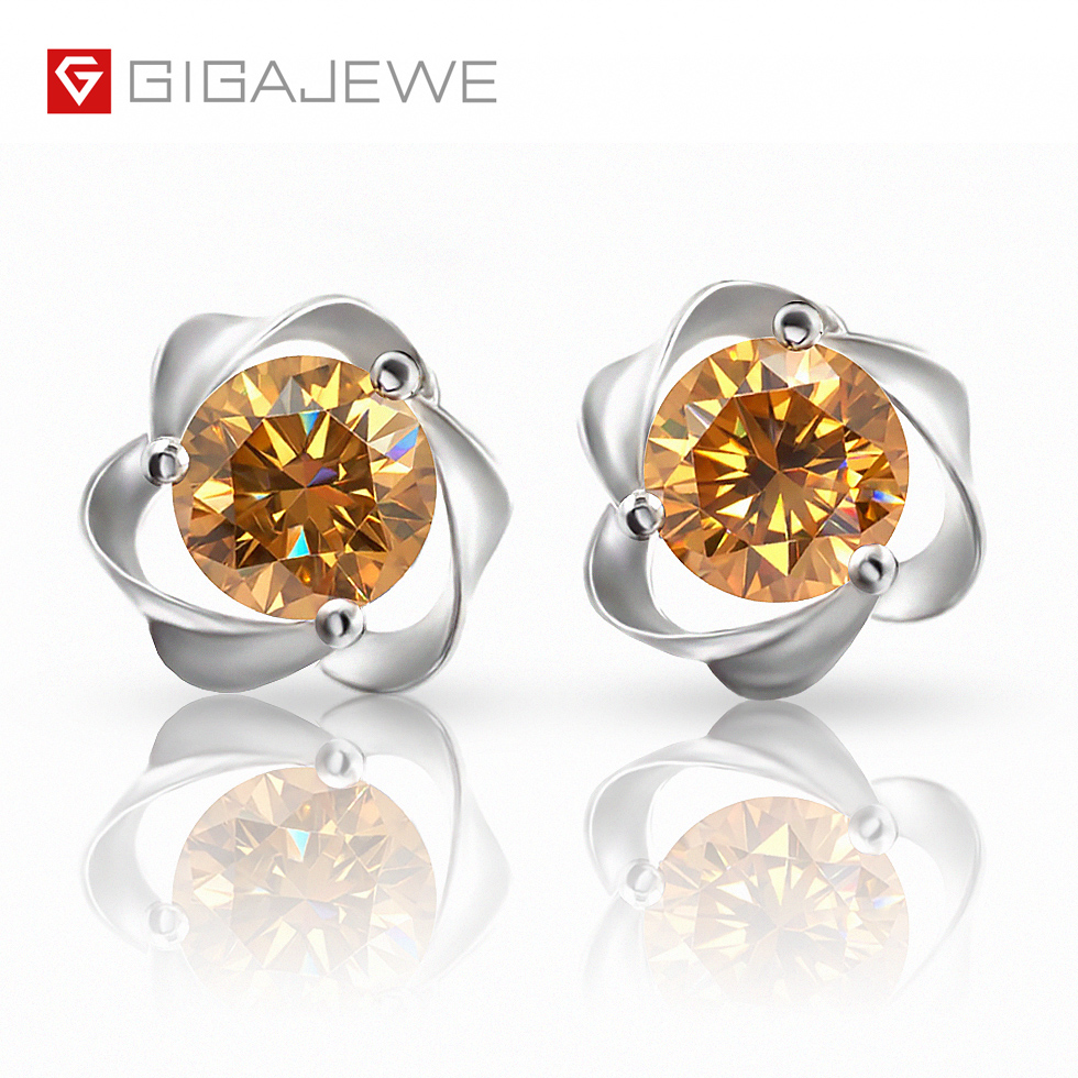 1.3ct Round Cut Stud Solitaire Earrings Gift Solid 14k White Gold Screw Back