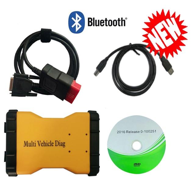 2020 Multi Fahrzeug Diag mit bluetooth neue vci 2016R0 software für delphis VD DS150E C-D-P OBD2 OBDii diagnose scan werkzeuge MVD
