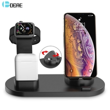 DCAE 3 in 1 Opladen Stand Voor iPhone 11 X XR XS Max 8 7 6s 6 USB Lader dock Station Voor iWatch Apple Horloge 5 4 3 2 1 AirPods