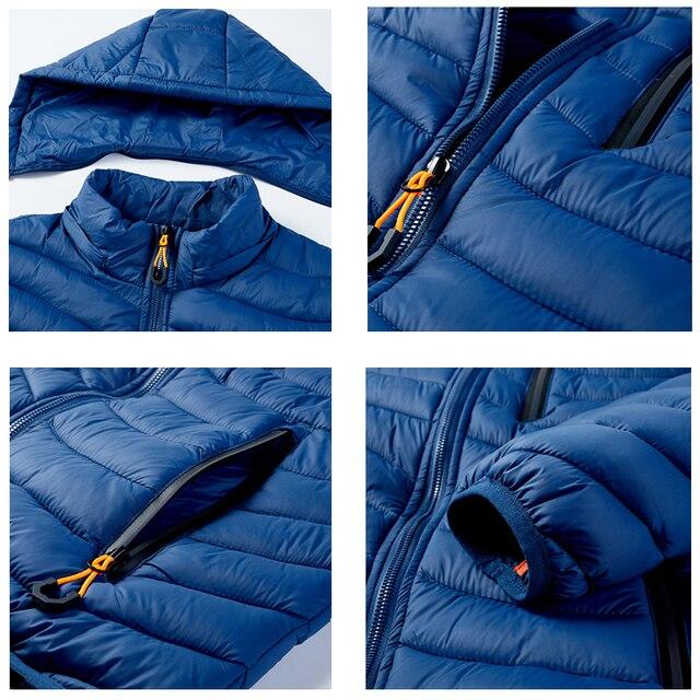 Warm Jacket Men Windbreaker 2021 Latest New Spring Autumn Hooded Soft Parkas Men's Fashion Casual High Quality Jacket Coat Male 6