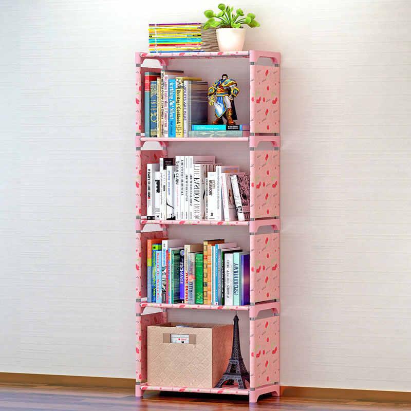 Bücherregal Lagerung Regal für Bücher Einfache Asemmbly Buch Rack Bücherregal für Home Möbel Boekenkast