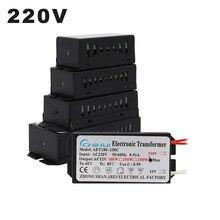 Transformador eletrônico de 220v, transformador eletrônico de 60w 80w 105w 120w 160w 180w 200w para lâmpada de halogêneo ac 12v g4, contas de luz cristal
