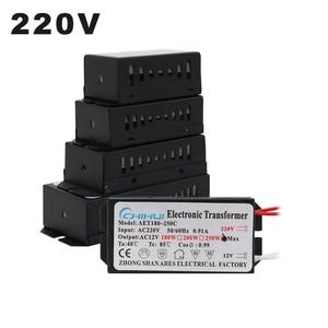 Image 1 - 220V Electronic Transformer 60W 80W 105W 120W 160W 180W 200W 250W For AC 12V Halogen lamp Crystal Lamp G4 Light Beads