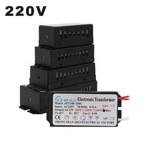 Transformateur électronique 220V, 60W 80W 105W 120W 160W 180W 200W 250W pour lampe halogène AC 12V, lampe en cristal G4, perles lumineuses