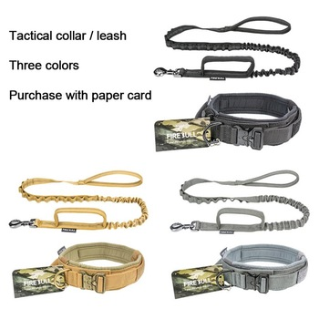 Dog Tactical Collar Adjustable Nylon Lead Rope Outdoor Training Quick Remove Durable For Medium Large Dogs S-L