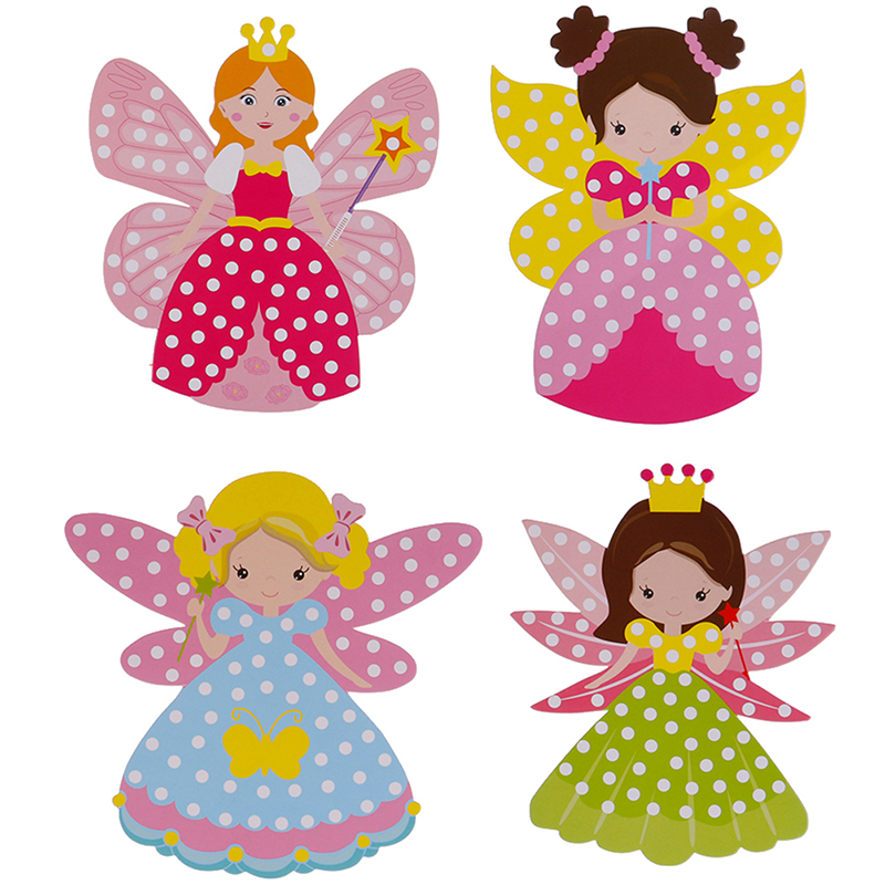 Fairy Stick Handmade Princess Magic Stick Toy Handmade Materials Package Sticker Girl Gift DIY Children Craft Toys