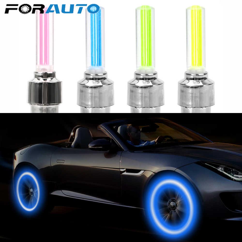 Forauto 2 Chiếc Neon Đèn Lốp Xe Ô Tô Nắp Van Lồng Đèn Trang Trí Đèn Dính Loại Xe Đạp Bánh Xe Vành Nan Hoa Đèn đèn Led