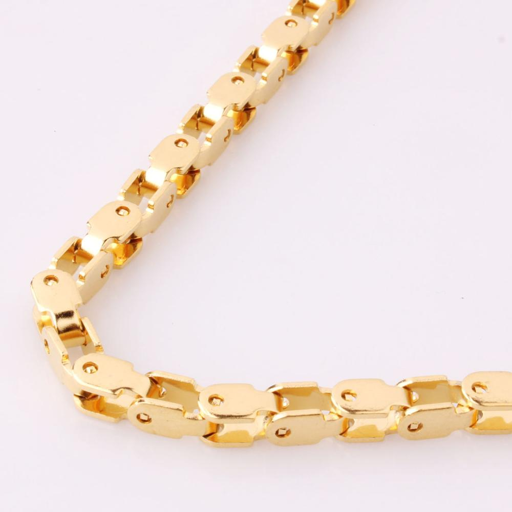 Top Quality 5mm Gold Chain Huge amp Heavy Long Rope Bike Stainless Steel Men 39 s Chain Necklace Link Wholesale in Chain Necklaces from Jewelry amp Accessories