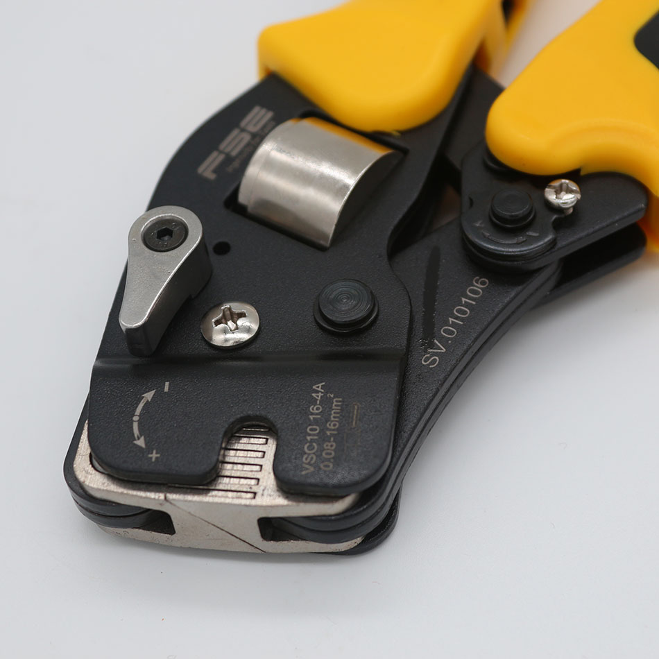 Tools : VSC10-16-4A 0 08-16mm 23-5AWG Adjustable Precise Crimp Pliers Tube Bootlace Terminal Crimping Hand Tool HSC10-16-4A