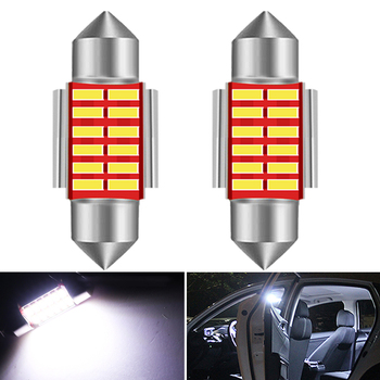 2x C5W LED CANBUS Bulb Festoon 31mm 36mm 39mm 41mm C10W Car Interior License Plate Light For BMW E60 E46 F10 X3 X5 E39 E61 E36 image