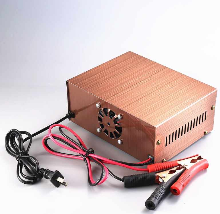 2020 new!AGM Start stop Car Battery Charger, 400W Intelligent Pulse Repair Battery Charger 12V 24VTruck Motorcycle Charger