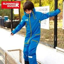 実行している川ブランド防水ジャケット子供のためのスーツ子供スキースノーボードジャケット子供スノーボードセット服 # W9741