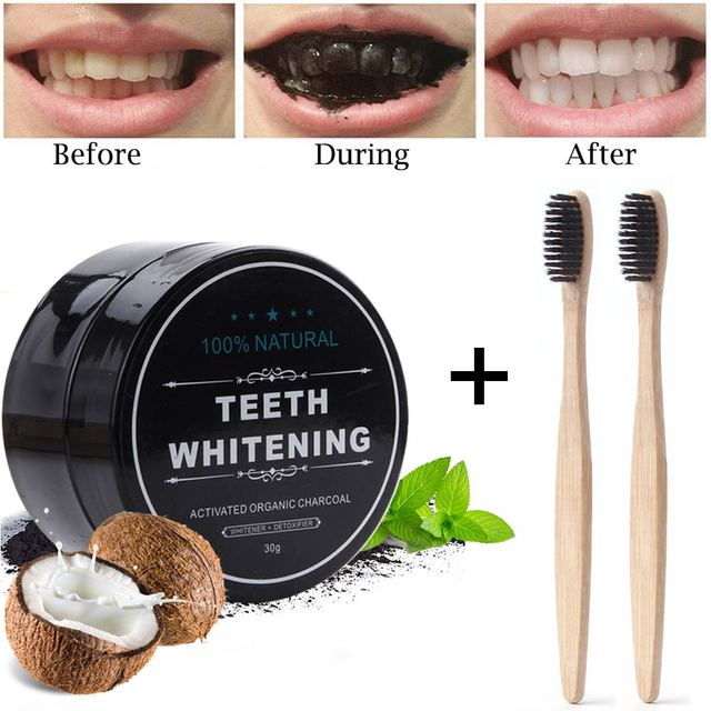 30g Teeth Whitening Powder Dental Charcoal Oral Hygiene Care Natural Stain Remove Bamboo Activated Carbon Teeth Whitener Powder