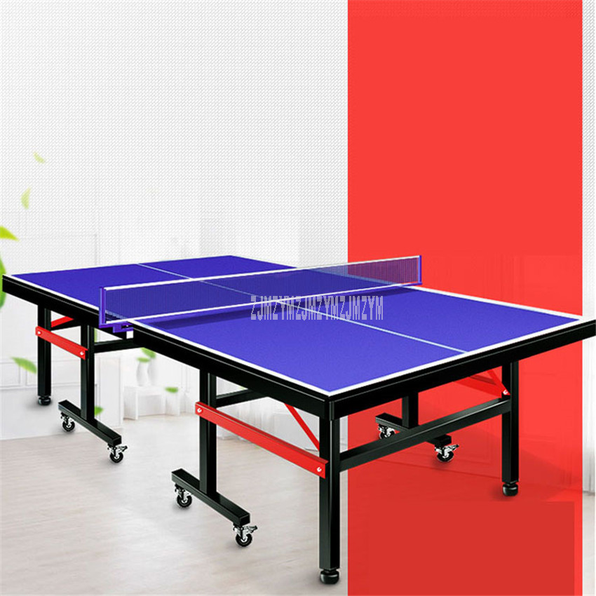 2.74x1.525m Foldable Table Tennis Table Desk High Density Fiberboard Load Weight 300kg For Ping Pong Indoor Sport Play Equipment