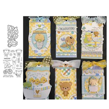 JC Rubber Stamps and Cutting Die Scrapbooking Cute Baby Carriage Craft Stencil Card Make Album Sheet Decoration 2020 Cut New